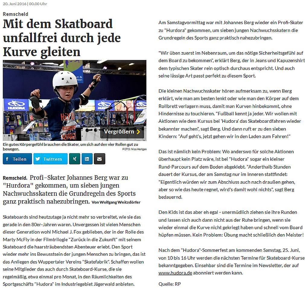 Artikel Skateboardschule